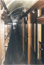 Corridor view - South Eastern & Chatham Railway Third Class Brake